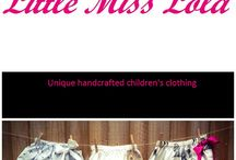 Little Miss Lola  / Unique handcrafted children's clothing