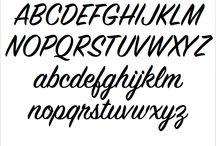 Signpainter Scripts / Examples of Signpainter script handlettering