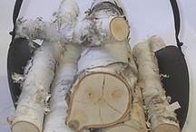 Berken haardhout; Birch fireplace logs / Berken haardhout