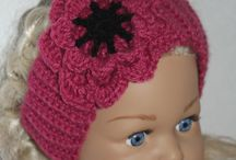 Crochet and knitting / Crochet and knitting, baby hairband, caps and andere