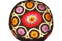 Boho poufs / Comfortable, colorful, unique...  http://www.etnobazar.pl/search/ca:pufy?limit=128