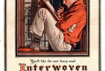 """J. C. Leyendecker / Born in Germany, Joseph Christian Leyendecker trained in Chicago and then Paris, and ultimately became one of the top illustrators of the early 20th Century.  His Arrow Shirt and Collar ads are famous, but he also did hundreds of covers for the Saturday Evening Post, as well as other illustration work.  He fell out of favor, sadly, before his death -- his """"American Weekly"""" Thanksgiving cover might show his struggle for commissions -- but has been rediscovered and appreciated."""