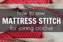 Sew crochet work together