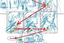 Story board comic composition