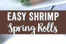 SpSpring rolls rice paper shrimp