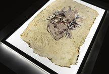 Monotypes on layered gel by Valeriya N-Georg