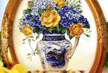sárga rózsa és viola