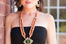 "Introducing ""Orange Sorbet"" / Orange beads strung to perfection and finished with kundan  pendant followed by a gorgeous tassel!!!"