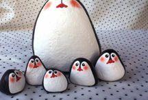 pinguine aus stein
