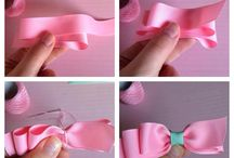 Bows / how to make bows, crafts, diy