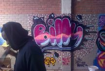 BillyonairGraff / My Graffiti work.   Learn't this technique from a Rituals Media Initiative, CreativesWorkshopJHB.