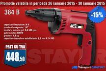 PROMOTII 2015 / Promotii scule electrice STAYER