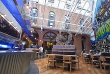 Generator Hostel Dublin / Neighbouring the Jameson Distillery, Generator Dublin can be found in the emerging district of Smithfield Square conveniently close to central Dublin. Utilising raw materials like exposed brick and stone, glass, black steel and recycled fixtures, the property boasts an air of uniqueness that only Generator can offer. For more info visit > http://generatorhostels.com/en/destinations/dublin/ / by Generator Hostels