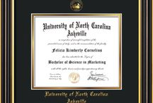 UNC Asheville Diploma Frames & UNCA Graduation Gifts! / Official UNCA Diploma frames. Exquisitely crafted to exacting specifications for the UNCA diploma. Custom framed using hardwood mouldings and all archival materials, including UV glass to prevent fading from sunlight AND indoor incandescent lighting! Each frame exceeds Library of Congress standards for document preservation and includes a 100% lifetime guarantee, ensuring that a hard-earned achievement will be honored and protected for generations. Makes a thoughtful and unique graduation gift!