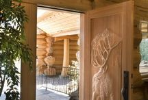 Doors / Elegant log homes have great accessories with a lot of unique detail. Doors to log homes can be some very interesting focal points.