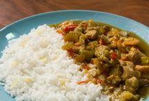 Frango tailandes com arroz jasmin
