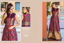 2623 Cutemade 6 Party Wear Gown With Zari Work