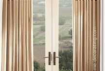 Bordered curtains & blinds