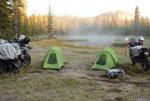 Acampar de moto