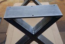 Steel legs