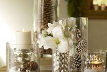 kerstversiering / kerst wit of zilver