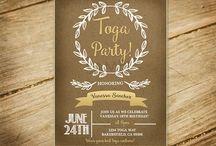 Greek Toga Party Ideas 40th burthday