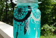 malované sklenice. painted jars