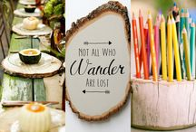 wood slices and slabs / Inspiration for using wood products for entertaining, weddings, home decor and diy projects.