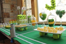 Tennis Party / Tennis players love to party and tennis makes a great party theme!