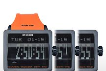PX-1 Digital Flip watch / PX-1, Digital Flip Watch, A-Design Award 2014 (Italy). With special scrolling digits display and one-crown control (patent pending), Please see the details at : pixowatch.com