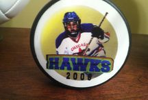 Hockey Gifts / Personalized hockey pucks are fantastic gifts for seniors, coaches, business sponsors, tournament champs, end of the season, player recognition, and much, much more!