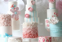 Cakes with ruffles