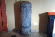 Fire Place made from Old Geyser / Fire Place