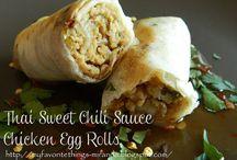 Thai sweet chilli egg rolls