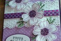 Mauve birthday card