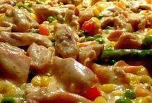 zöldséges húsos rizs