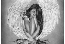 angel tatoo#paint#draw