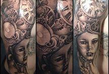 Greyish/brownish tattoos