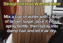 Hair straight