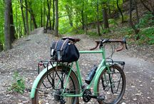 bicycles in landscape