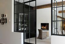 Black glass doors