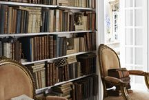 French Farmhouse Library Dining Room