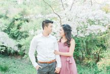 Cherry Blossom Filled Engagement Session