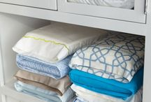 Organized Linen Closets / Sheets, towels, blankets and bedding. Ideas to keep them organized.  / by Chaos To Order®