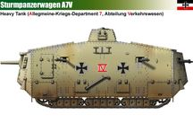 WW I GERMAN EMPIRE MILITARY LAND VEHICLES