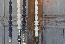 candelabras/silver