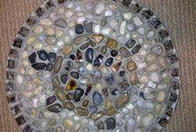 nápady na záhradu - mozaika