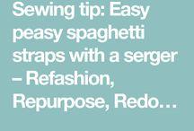 spagettistraps withoverlocker