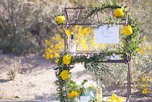 Yellow wedding / Summery yellow themed wedding ideas.