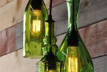 Lustres de garrafas